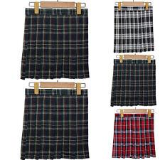 School Uniform Dress Girls Lady Plaid Pleated Cosplay Japan Mini Skirt S-XL G13