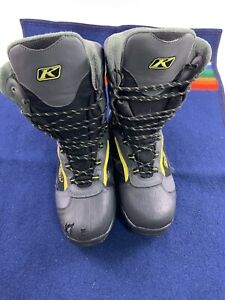 KLIM Adrenaline GTX Gortex Snowmobile Boots Men's Size 9 Thinsulate Waterproof