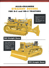 ALLIS-CHALMERS STRAIGHT DOZERS FOR H-3 & HD-3 TRACTORS sales technical leaflet