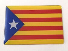 CATALONIA FLAG Sticker/Decal - 64mm x 44mm WITH HIGH GLOSS DOMED GEL FINISH