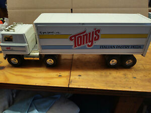 "LARGE Vintage Ertl Tonys Pizza TRACTOR TRAILER TRUCK - METAL - NICE 22"""