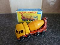 LESNEY MATCHBOX SERIES No.21 FODEN CONCRETE MIXER TRUCK IN ORIGINAL BOX VGC