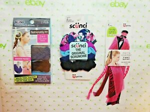 Scunci Set 2 in 1 Hair + Wrist Band 2 Pack Scrunchies & Pop It In Your Pony Pink