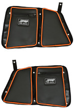 PRP Seats Black/Orange Vinyl Rear Stock Door Bag Knee Pad Polaris RZR XP 4 1000