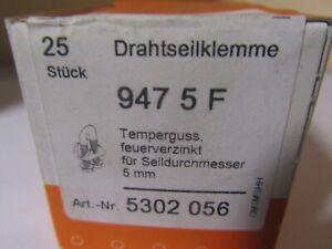 25 x OBO Bettermann Drahtseilklemme 947 5 F * NEU + OVP *Restposten * Y-3-2