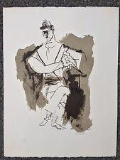 Original Abraham Rattner Lithograph. Beggars Opera Series. Signed. 1971 21/150