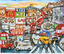 """LINNEA PERGOLA """"Picadilly-Circus"""" with the Beatles  3D Construction HAND SIGNED"""