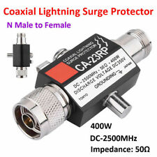Outdoor Antenna Arrester Coaxial Lightning Surge Protector Two-Way Radio 50Ω