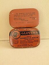Vintage Medicine  Glover's Digestive Pills for Dogs Tin  In Very Good Condition