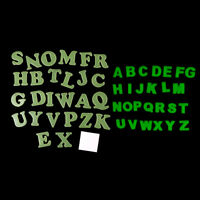 26pcs Glow In The Dark English Letter Luminous Stickers Kids Bedroom Decal FT