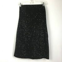 Michael by Michael Kors Women's Black Strapless Sequined Cocktail Dress Size 6
