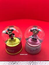 "New Lot Of #2 Disney Snow Globes Of ""Micky And Minnie"" By Westland Giftware"