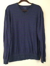 Armani Exchange A|X  Sweater Gray Purple V Neck Cashmere & Cotton size XL  EUC