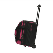 Pink Pyramid 2 Ball Bowling Bag With Wheels Pro Double Roller Two Bowler Rolling