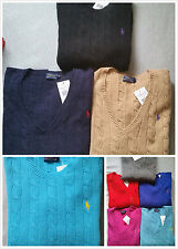 Ralph Lauren Women Super Soft Wool Cashmere Cable Knit Jumper RRP£120 Xmas Gift