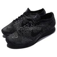 Nike Flyknit Racer Triple Black Men Running Shoes Racing Sneakers 526628-009