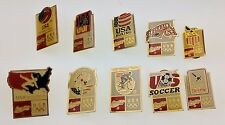 Lot of 10 Coca-Cola 1992 Olympics Barcelona Pins Team USA Sports Boxing Diving