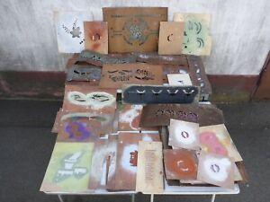 Konvolut 113 alte Malerschablonen Malerschablone Musterschablone Wandschablone