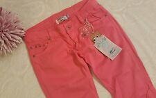 VINGINO Coral pink kizzy size 14 158 premium denim Bermuda Capri Hose Trousers