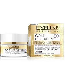 Eveline LuxuryFace Multi Nourishing Cream Serum 24k Gold Day Night 50+