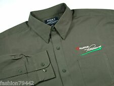 FUJI FILM Professional Photographer  - Men's XL Embroidered Dress Shirt  - OLIVE