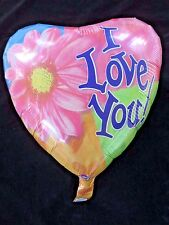 "I Love You 18"" Mylar Double Sided Heart Shaped Balloons ~ Set of 10"