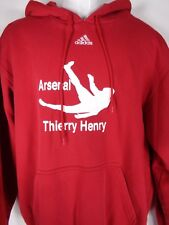 Thierry Henry Arsenal Adidas Hoodie Sweatshirt Size Large Red Soccer Football