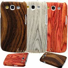 for Samsung galaxy s3 case cover wood look design red brown gray / SIII /