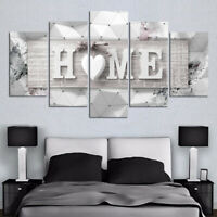 UK 5set  Canvas Oil Painting Picture Wall Mounted Art Living Room Decor Display