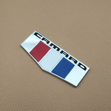 Metal Chrome Silver Camaro Logo Emblem Side Door Badge Fender Trunk Sticker