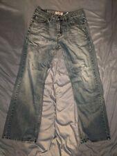 Levi Strauss Signature Low Loose Boot Mens Denim Jeans 32x32 Light Wash