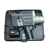 Canon Auto Zoom 518 SV Super 8 8mm Movie Camera w/ Filter Key Case & Wrist Strap