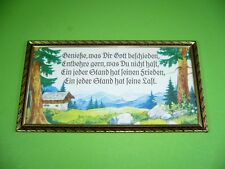 607k02 Old House Blessing, Saying Picture, Wall Art: enjoy what you God met