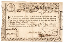 1779-Dated Revolutionary War Massachusetts Pay to Officers Form, Ander... Lot 92
