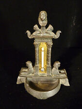 19Th Century Egyptian Revival Cast Metal Sphinx Thermometer - Circa 1820