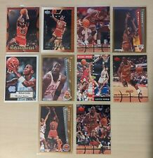 Michael JORDAN LOT Topps Upper Deck Fleer 10 NBA Basketball Karten 92 95 98 2000