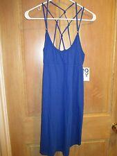 NEW* ROXY Sz L Sandy Bay BLUE Mini DRESS TUNIC TOP Bikini Cover Up $40 Retail