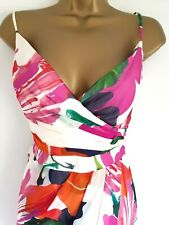 COAST stunning Silk bustier floral  guest wedding , occasion dress size 14 UK