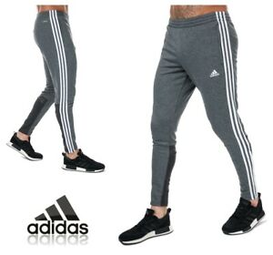 adidas 3S Joggers Sweat Pants Grey Jog Jogging Track Pants Size XL Mens Training