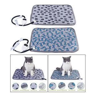 Pet Cat Dog Electric Heating Pad Winter Warmer Carpet Bed Animals Blanket