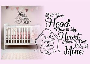 Dumbo Baby nursery Disney Inspired wall art Sticker vinyl Decal Home decor