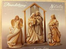 Foundations by Enesco   Nativity Four Piece Set    NEW!!!