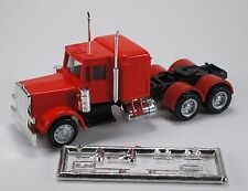 HO 1/87 Promotex # 6397 Peterbilt Long Tractor w/Round Fenders, Sleeper - Red