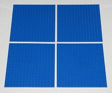Lego Lot of 4 New 16 x 16 Dot 5 x 5 Inch Blue Plates Pieces