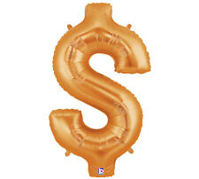 """Gold Dollar Sign 40"""" MegaLoons Balloon $ sign Money Casino Party Helium HUGE"""
