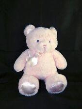 Gund Pink Teddy Bear MY FIRST TEDDY Plush Stuffed Toy Pink Ribbon