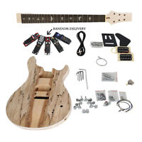 Electrical Unfinished Spalted Maple Top Solid DIY PRS Guitar Kit With Hardwares