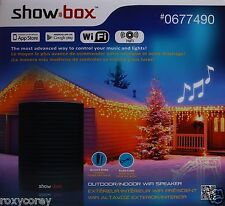 show box wi fi speaker holiday lights music controller speaker indooroutdoor