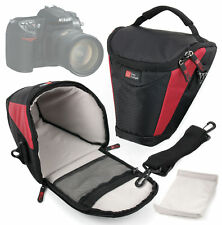 Professional Black and Red Carry Case Bag for Nikon D100, D200