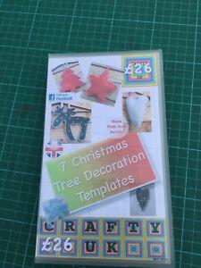 Christmas Acrylic templates Set 7 shapes